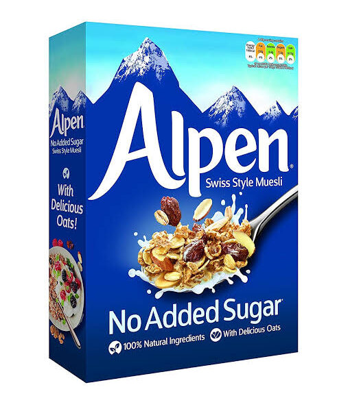 alpen blu no sugar added 560gm