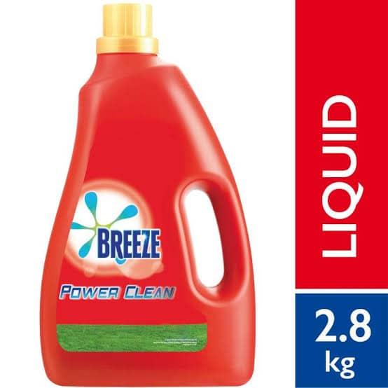 breeze detergent liquid power clean 2.6kg ,