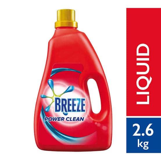 breeze detergent liquid power clean 2.6kg