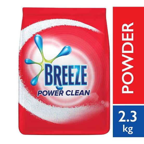 breeze detergent powder powwr clean