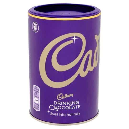 cadbury drinking chocolate powder