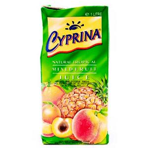Cyprina Natural Tropical Mixed Fruit Juice 1Lt