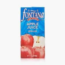 Fontana 100% natural apple juice 1Lt