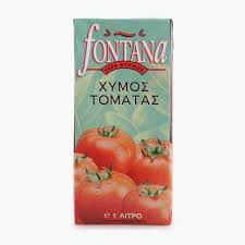 Fontana 100% natural tomato juice 1Lt