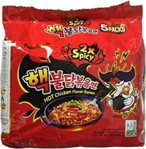 Samyang 2x spicy Ramen Noodles 5 Pack