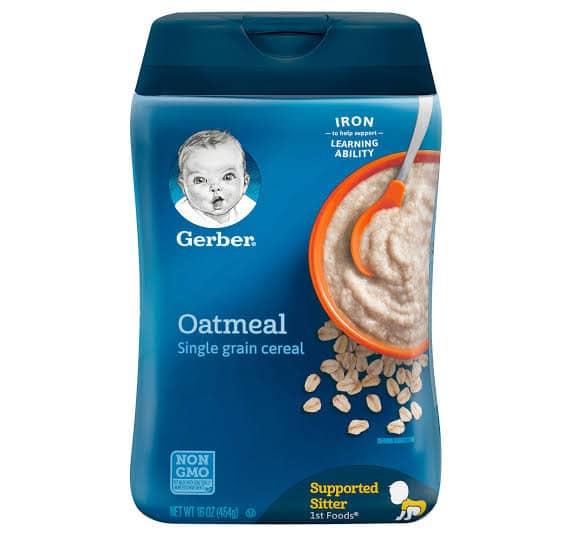 gerber baby oatmeal single