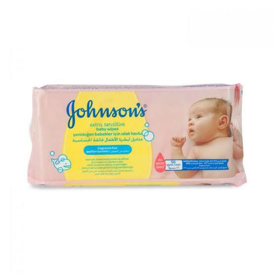 Johnson's Extra Sensitive Baby Wipes 56pcs