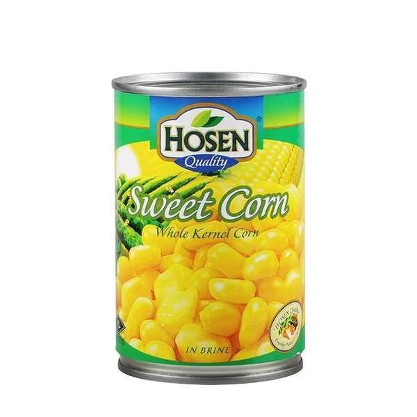 Hosen Sweet Corn Whole Can 425gm
