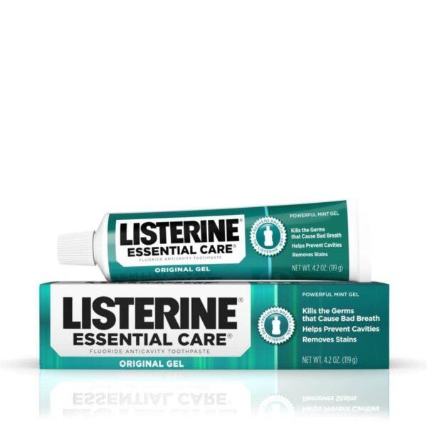 Listerine-Essential-Care-Original-Gel-Fluoride-Toothpaste Made in USA
