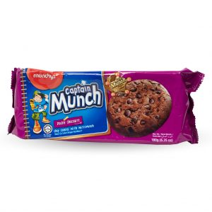 Captain Munch Double Chocolate Biscuit 180g